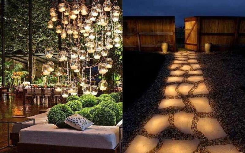 Diy garden lighting ideas backyard lighting ideas on yardsurfer diy garden