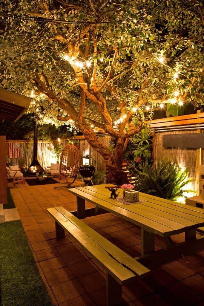 String Backyard Lighting Allows Users To Decorate Places Of The Yard That  Are Not Usually Covered