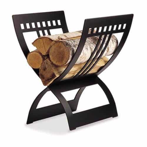 Wood Storage in a Fireplace Log Holder