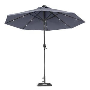 Illumination With a Solar Patio Umbrella