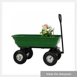 Garden Dump Cart with Steel Frame
