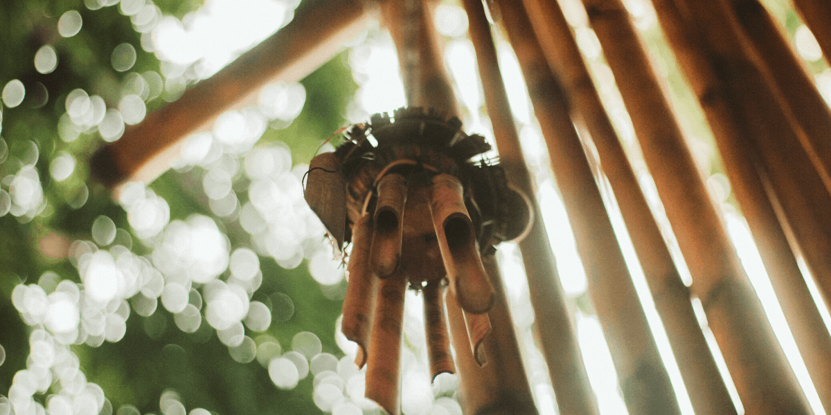 The Beautiful Sound of Bamboo Wind Chimes