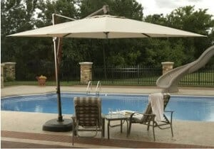 Outdoor Shading with Cantilever Umbrellas