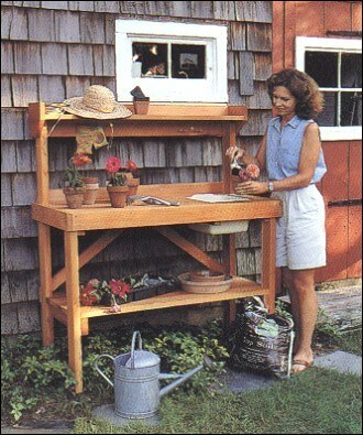 Work Comfortably with a Garden Potting Bench