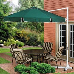 How Does an Offset Patio Umbrella Work?