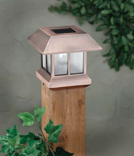 Exterior Accenting with Solar Post Lights