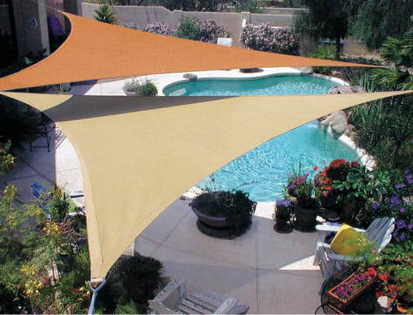 Two Coolaroo shade sails.