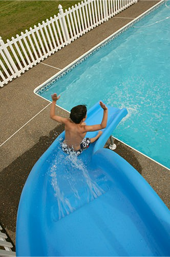 Installation for Swimming Pool Slides