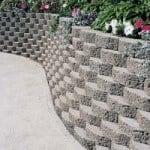 Flush retaning wall