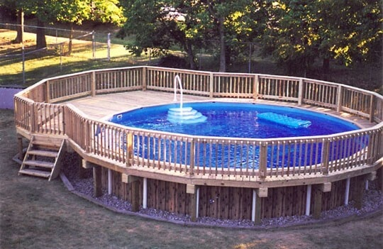 How to build your own above ground pool decks yard surfer for Above ground pool decks images