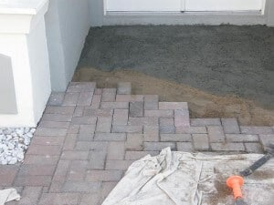 Installing Pavers Over Concrete