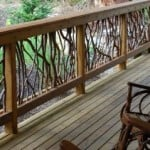 Rustic Deck Railings http://yardsurfer.com/deck-railing-ideas/