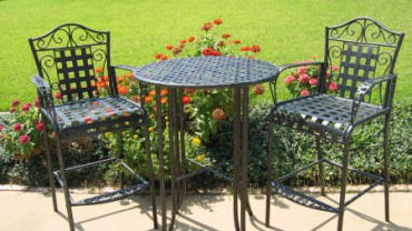 Tips for bench cushions yard surfer - Advantages of wrought iron patio furniture ...