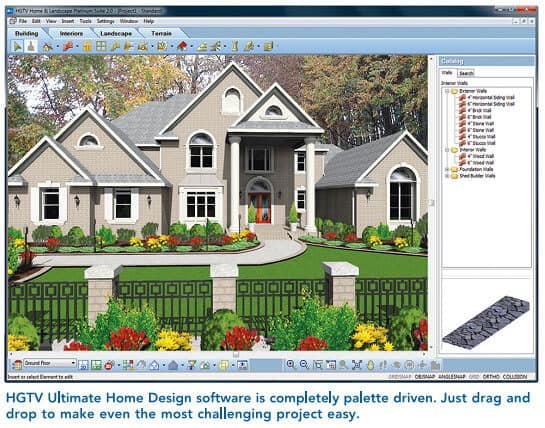 Design software hgtv landscaping and home design software by nova development yard surfer for Hgtv home design software tutorial