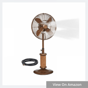 Oscillating Fan with Misting Kit
