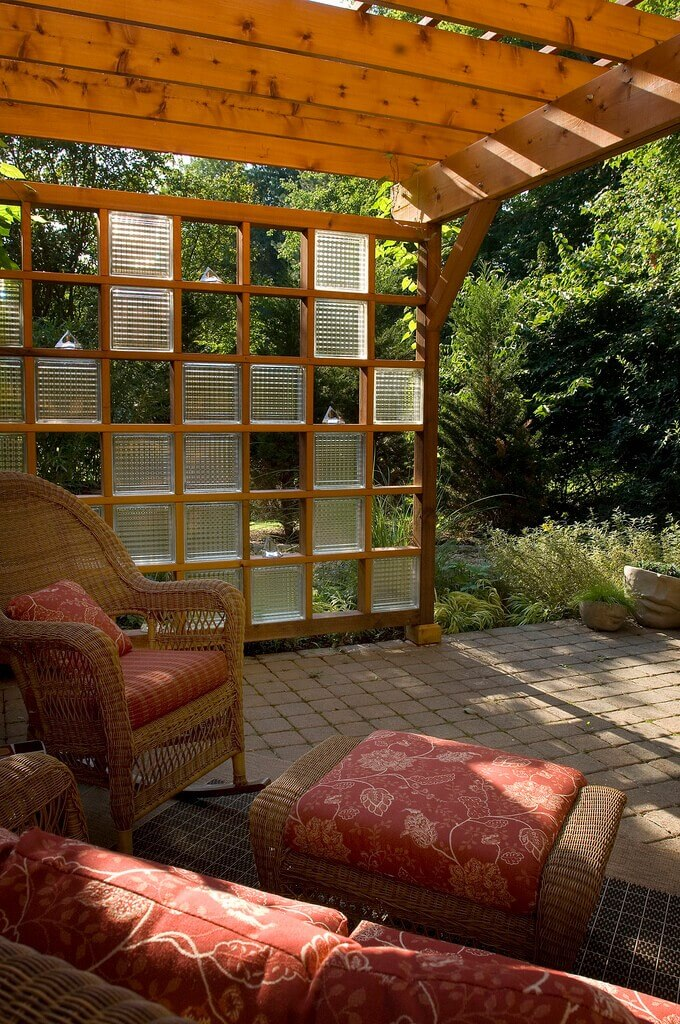 How To Decor Your Outdoor With Glass Bricks