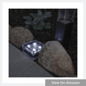 Glass Solar Brick with LED Lights