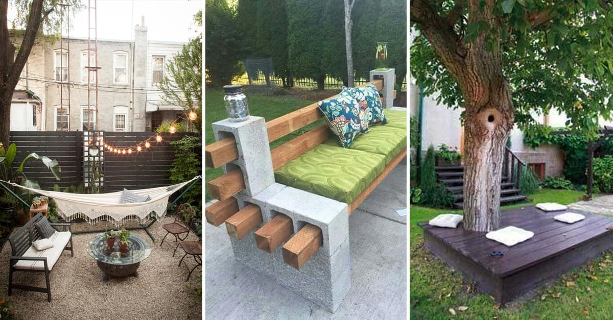 25 Easy And Cheap Backyard Seating Ideas | Yard Surfer on Affordable Backyard Ideas id=84011