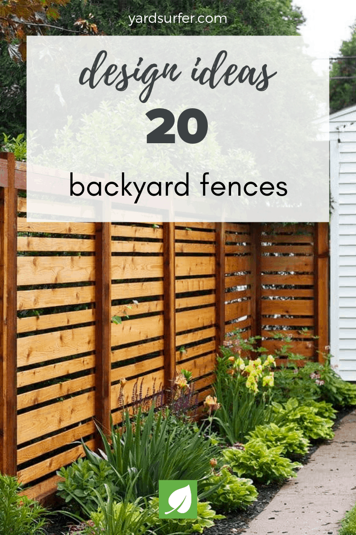 20 backyard fence design ideas
