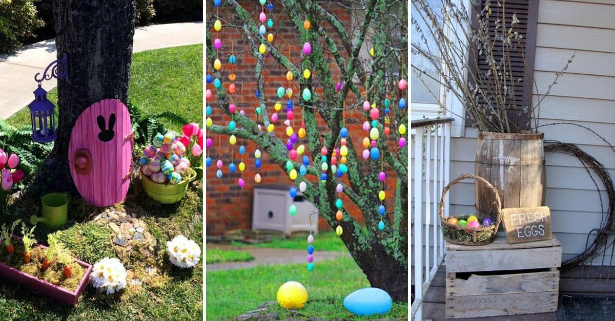 15-Beautiful-Easter-Day-Decorating-Ideas-For-Backyards Painted Rock Garden Design Ideas on painted rocks with fish, cute pet rocks idea, painted flowers idea, painted rocks craft, outside front yard halloween decoration idea, painted kitchen idea, painted rocks with quotes, painted wall idea,
