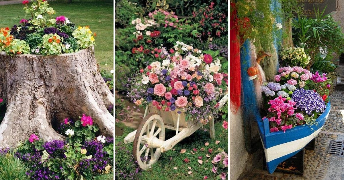 15 Ways To Decorate Your Garden With Recycled Materials