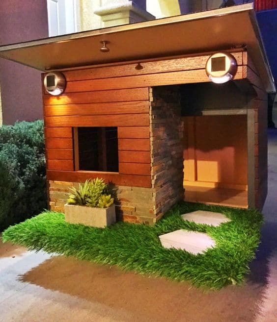 Check out these dog house ideas.