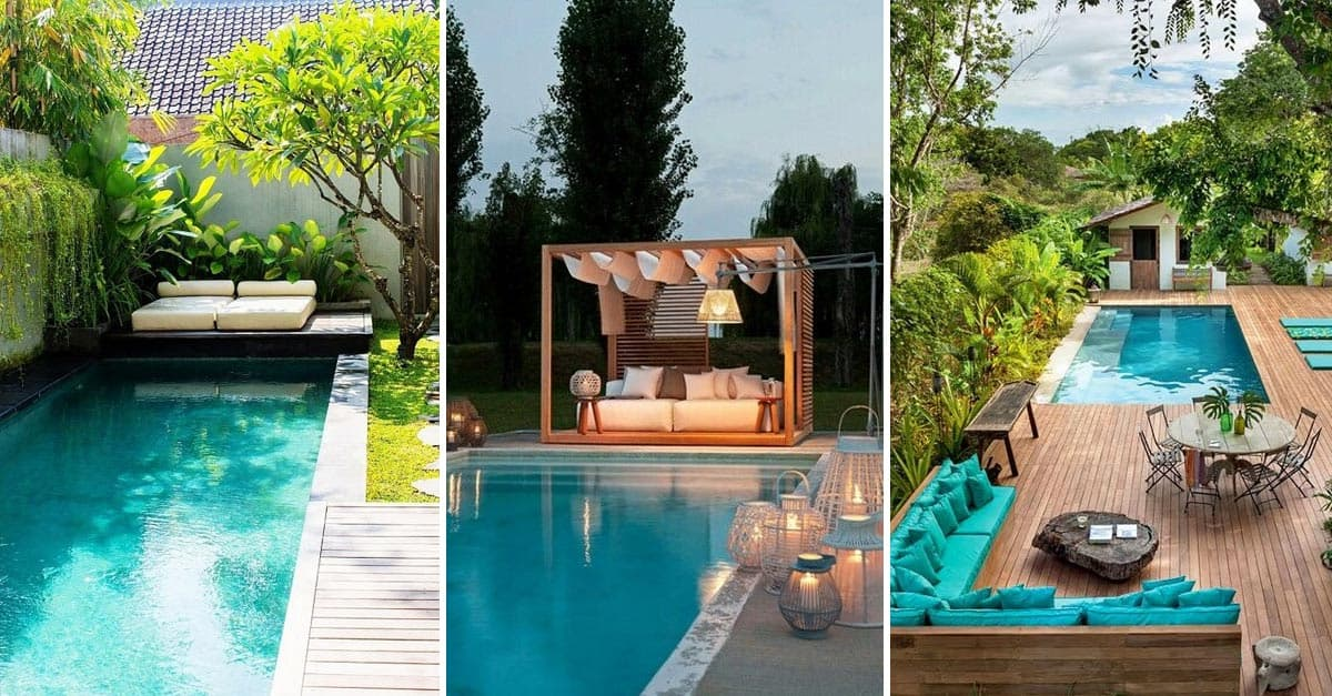 12 Great Ideas For A Modest Backyard: 12 Amazing Backyard Pool Ideas