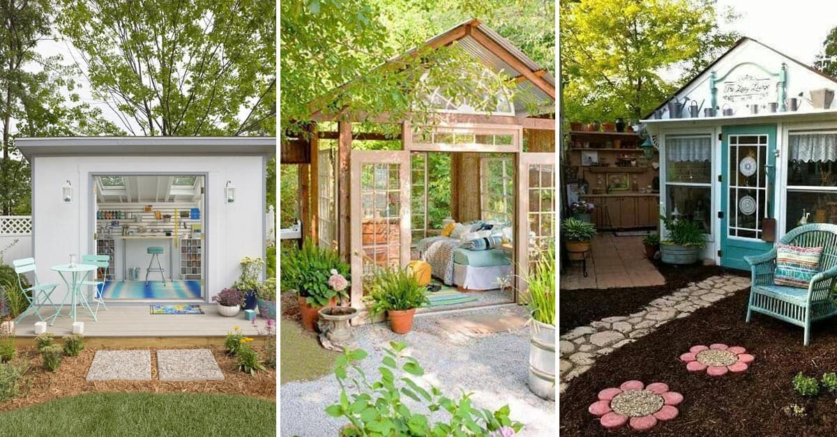 12 Great Ideas For A Modest Backyard: 13 Backyard Shed Ideas