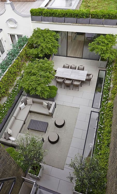 Check out these ideas for roof garden.