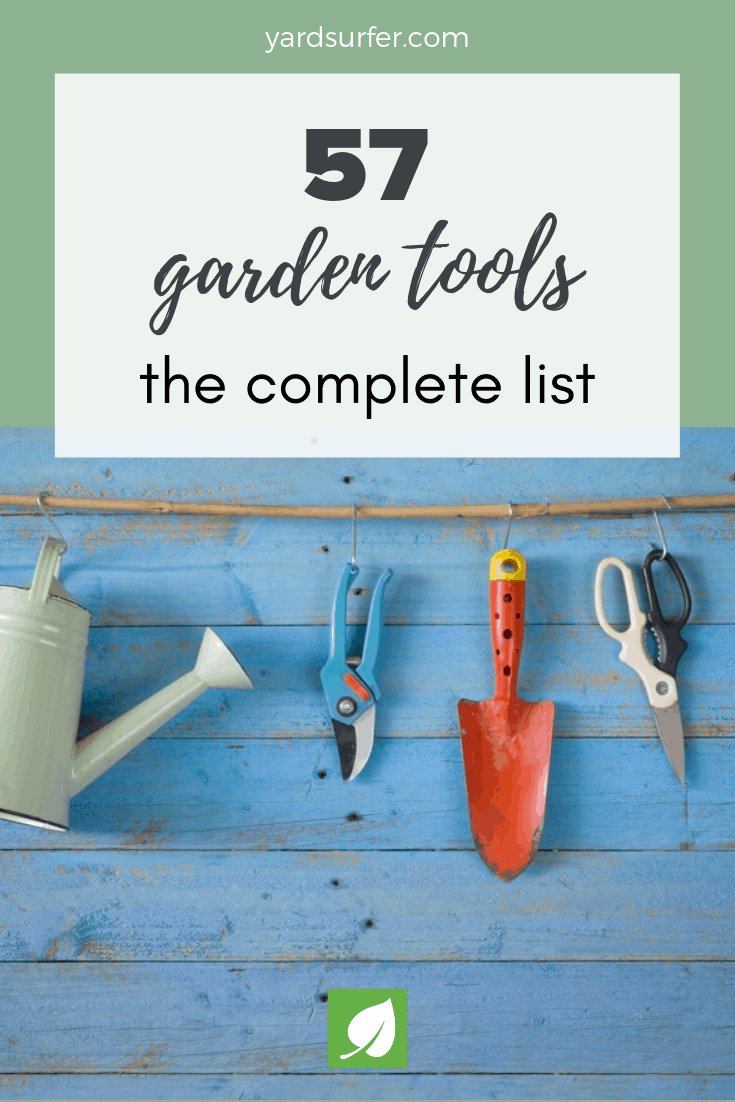 57 garden tools