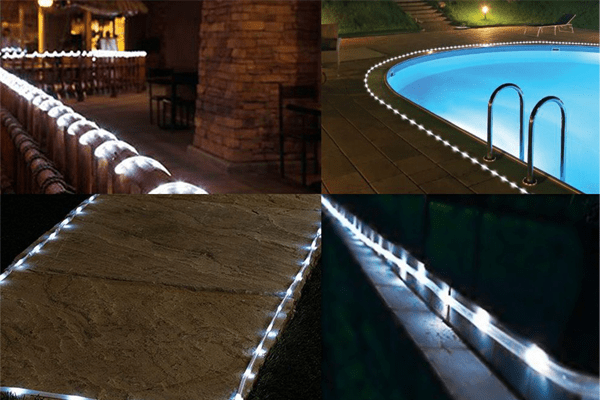 2. Rope lights for a brighter yard