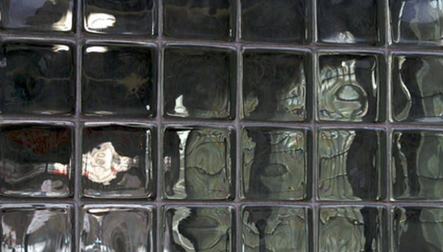 Glass bricks on the backyard walls