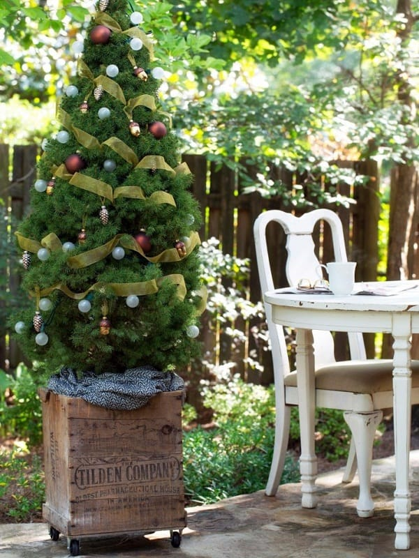 10 Brilliant Ideas to Decorate your Garden for Christmas 2018