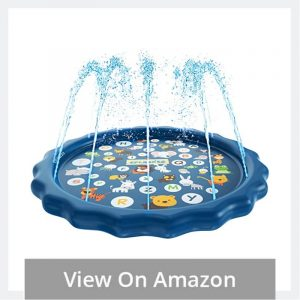 Splash Pad Sprinkler for Kids Home Size Backyard