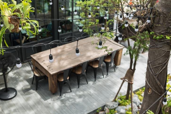 backyard dining table