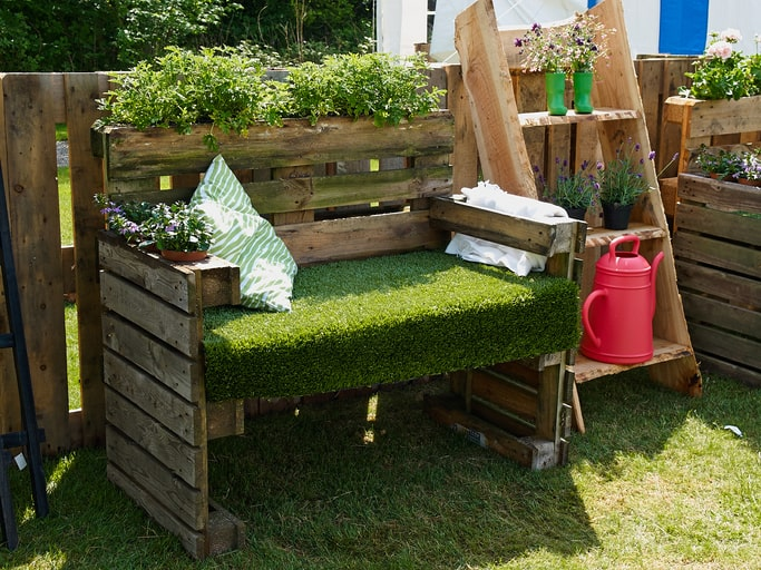 backyard natural seating