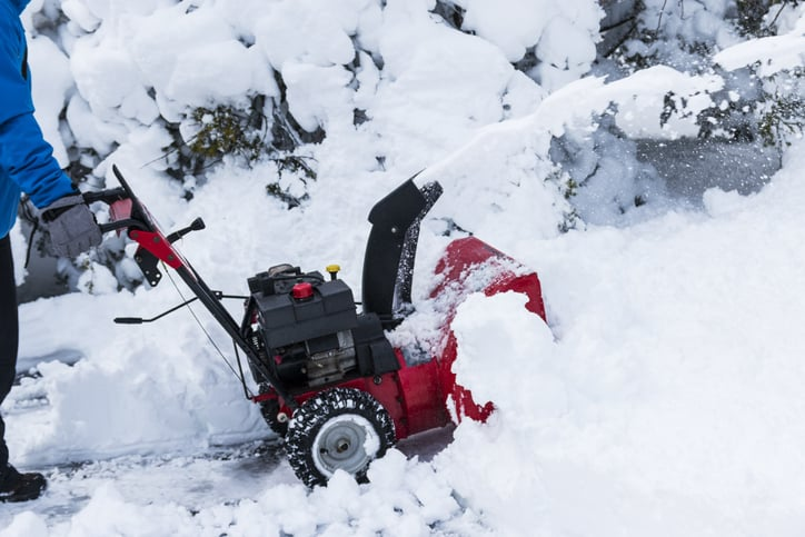 snowblower blowing snow