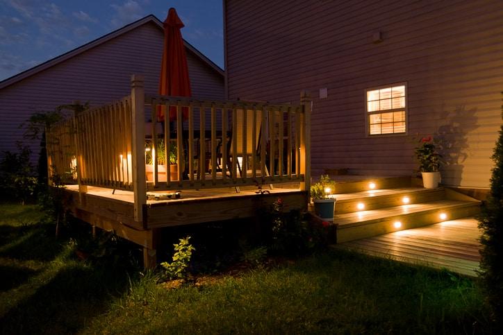 wooden deck patio