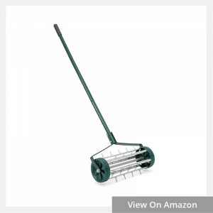 18in Rolling Lawn Aerator Gardening Tool for Grass