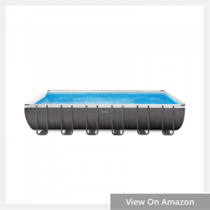 Ultra Frame Rectangular Pool Set with Sand Filter Pump & Saltwater System