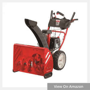 troy bilt storm electric start two stage snow thrower