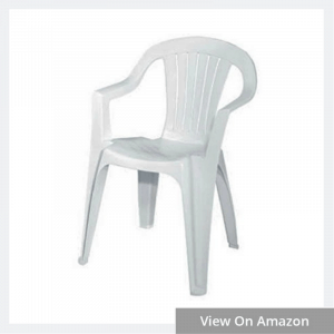 Adams Mfg 8234-48-3704 WHT Low Back Chair