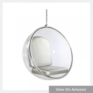 Fine Mod FMI1122-SILVER Bubble Hanging Chair