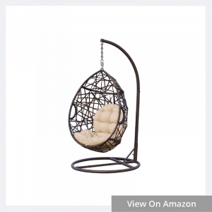 Outdoor Wicker Tear Drop Hanging Chair
