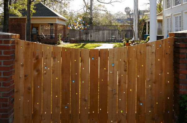 Lighting Marble Fence Idea
