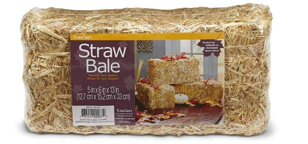 decorative straw bale 13""