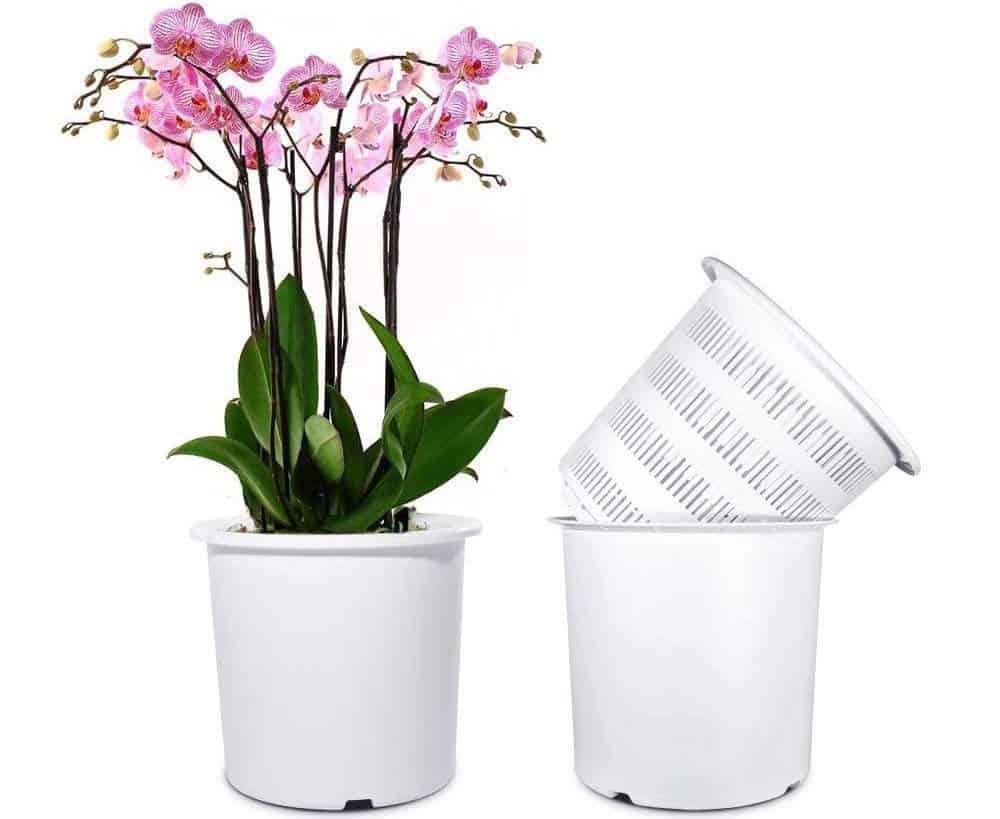 mkono plastic orchid pot