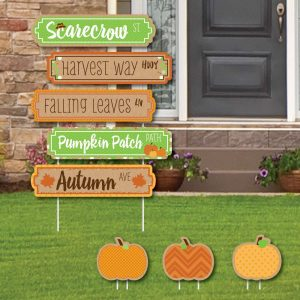 pumpkin patch street sign cutouts