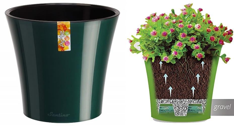 santino self watering flowerpot