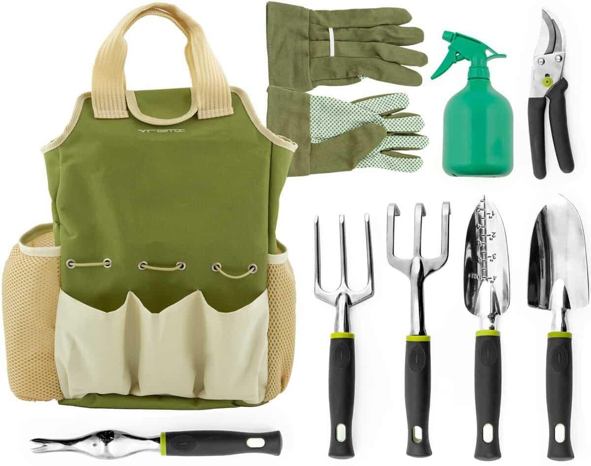 vremi 9 piece garden tool set